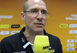 Roberto Piazza i Wilfredo Leon po meczu PGE Skra - Zenit Kazań