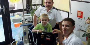 Mariusz Wlazły z wizytą w szpitalu CZMP w Łodzi