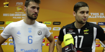 Bracia Penchev   Niko i Rozalin po meczu PGE Skra - Personal Bolivar