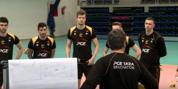 PGE Skra trenuje przed pierwszym meczem o brąz