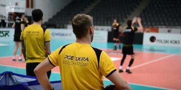 Trening PGE Skry przed meczem z Jastrzębskim Węglem