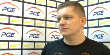 Robert Kaźmierczak przed meczem z Cuprum Lubin