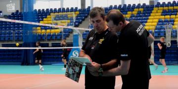 Trening przed meczem z MKS Będzin
