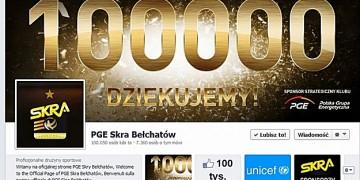 100 tysięcy fanów PGE Skry